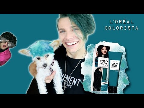 DYEING MY HAIR TEAL   DELIVERING GIVEAWAY GIFTS   GRAYSON COATS