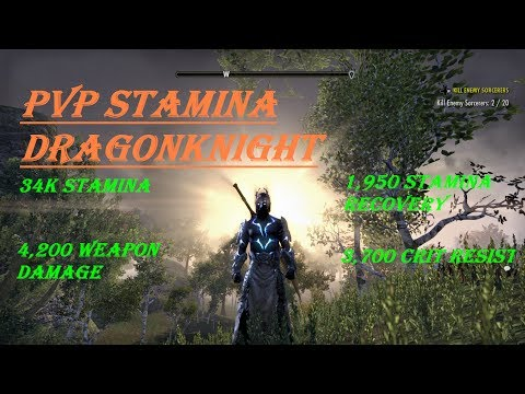 ESO MORROWIND: PvP Stamina Dragonknight build (The Stalwart Knight 1.0)