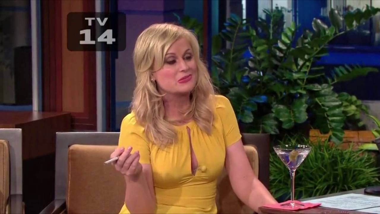Amy Poehler smoking a cigarette (or weed)
