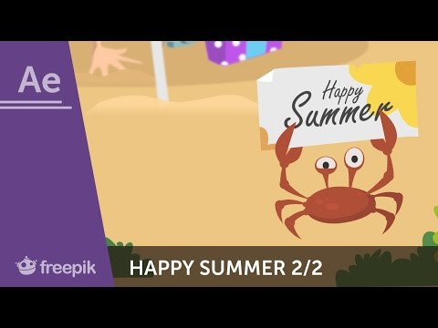 How to animate a Happy Summer postcard in After Effects (Part 2) - Nilabh Umredkar | Freepik