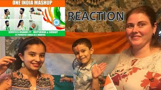 ONE INDIA MASHUP (20 Patriotic Songs in 5 Min) / AMERICANS REACTION