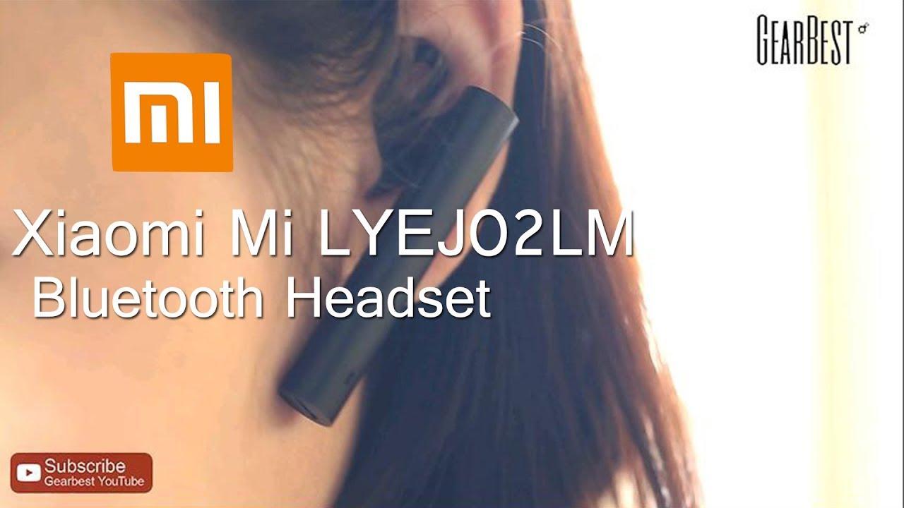 9843b26e1de Original Xiaomi Mi LYEJ02LM Bluetooth Headset - Gearbest.com - YouTube