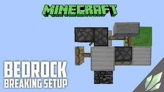 Simple Bedrock Breaking setup | 1.13 / 1.13.1 / 1.13.2