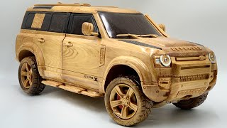 Wood Carving - 2021 Land Rover Defender 110 X - Woodworking Art