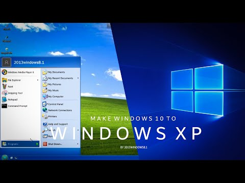 Make Windows 10 Look Like Windows XP (REAL START MENU IS BACK)