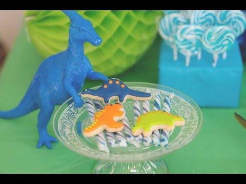 Dinosaur themed birthday party via Little Wish Parties childrens