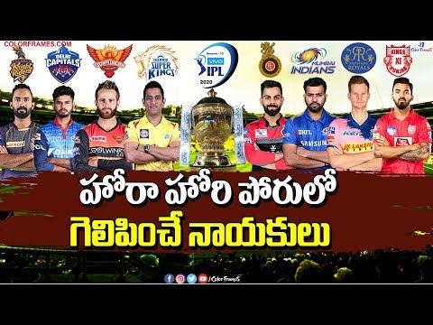 IPL 2020 Team Captains Match Winning Percentage |All IPL Team Captain Win% | Color Frames