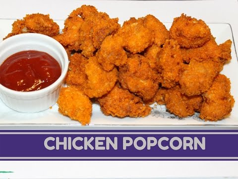 How To Make Chicken Popcorn With Breadcrumb At Home | Easy Popcorn Chicken Recipe