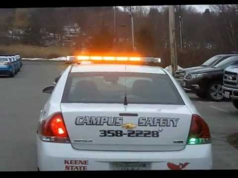 Campus Security Vehicle With Green Led Lighting