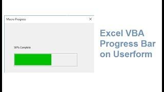 Excel VBA Progress Bar on Userform