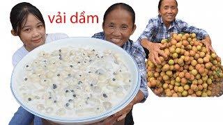 Bà Tân Vlog - Làm Bát Vải Dầm Sữa Chua Trân Châu Siêu To Khổng Lồ