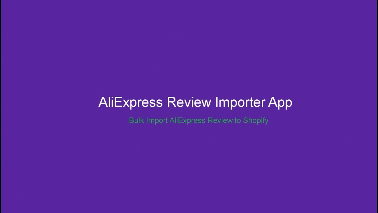Import Review From AliExpress To Shopify