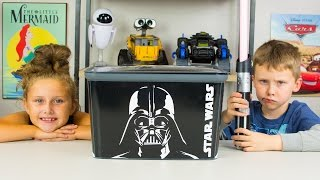 HUGE Star Wars Surprise Egg Darth Vader Surprises BB-8 Toy Mario Brothers Hot Wheels Kinder Playtime