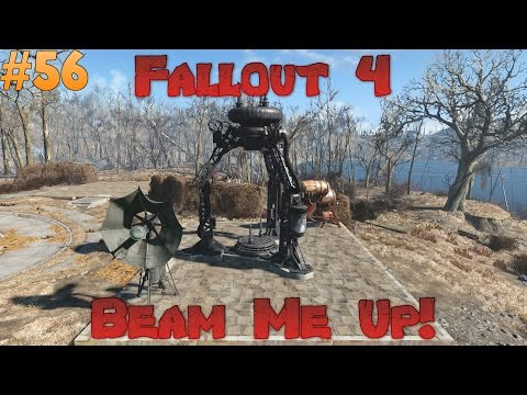 Fallout 4 Melee Only Survival Difficulty - Building a Teleporter! Ep 56