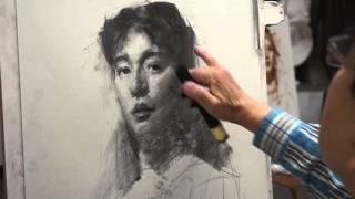 Nitram Presents a Charcoal Portrait by Yim Mau Kun