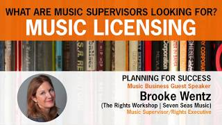 Download lagu What are Music Supervisor's Looking For? Music Licensing with Brooke Wentz
