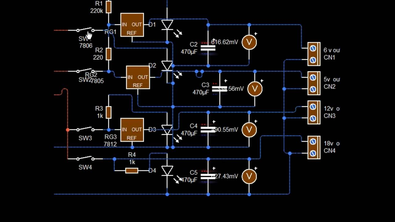 Multiple Voltage Power Supply Youtube