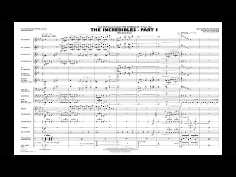 The Incredibles - Part 1 by Michael Giacchino/arr. Jay Bocook