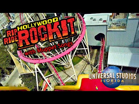 2019 Hollywood Rip Ride Rocket On Ride HD POV With Muppet Songs Universal Studios Orlando