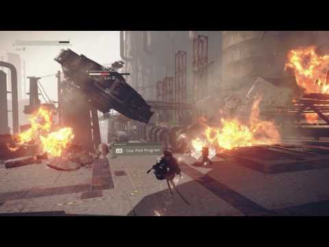 Nier Automata 1st Save Point PC Gameplay