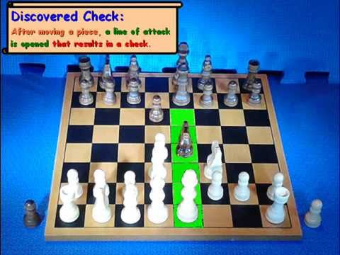 How a discovered check works in chess