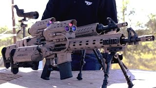 Repeat youtube video TrackingPoint - M600 SR Squad-Level Precision Guided Assault Rifle Live Firing [1080p]
