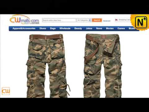 Cotton Military Cargo Camo Pants for Men CW140326 www.cwmalls.com