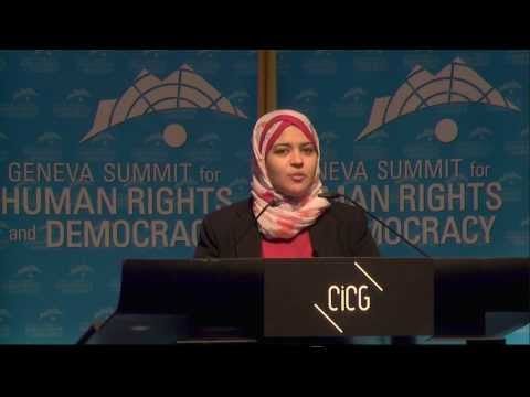2014 Geneva Summit: Dalia Ziada, Egyptian Human Rights Activist