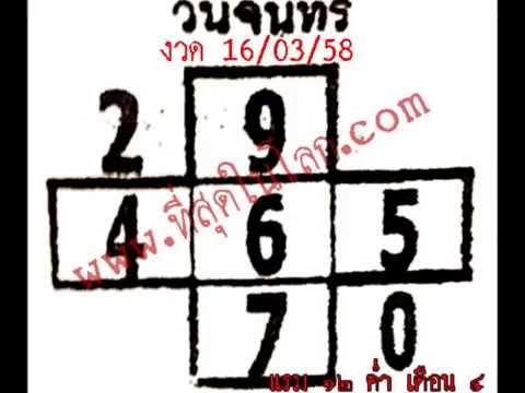 หวยเด็ดงวด 16 มีนาคม 58 เลขเด็ดงวด 16/03/58