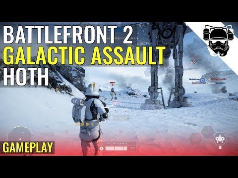 Star Wars Battlefront 2 - HOTH - GALACTIC ASSAULT GAMEPLAY