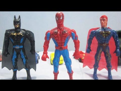 random-action-figures---action-figures-unboxing-and-spiderman!-batman