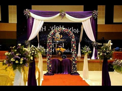 How To Setup An Indian Christian Wedding Decoration Backdrop