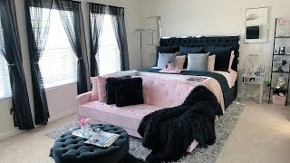 Dressing Up My Master Bedroom | Black, Pink & Silver Theme | Bedroom Tour ft. California Design Den