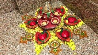 Diwali Decoration Idea / Diwali Rangoli Idea/ How to make rangoli / Diwali Festival Decoration.