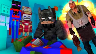 MONSTERS BECOME SUPERHEROES - Minecraft Monster School