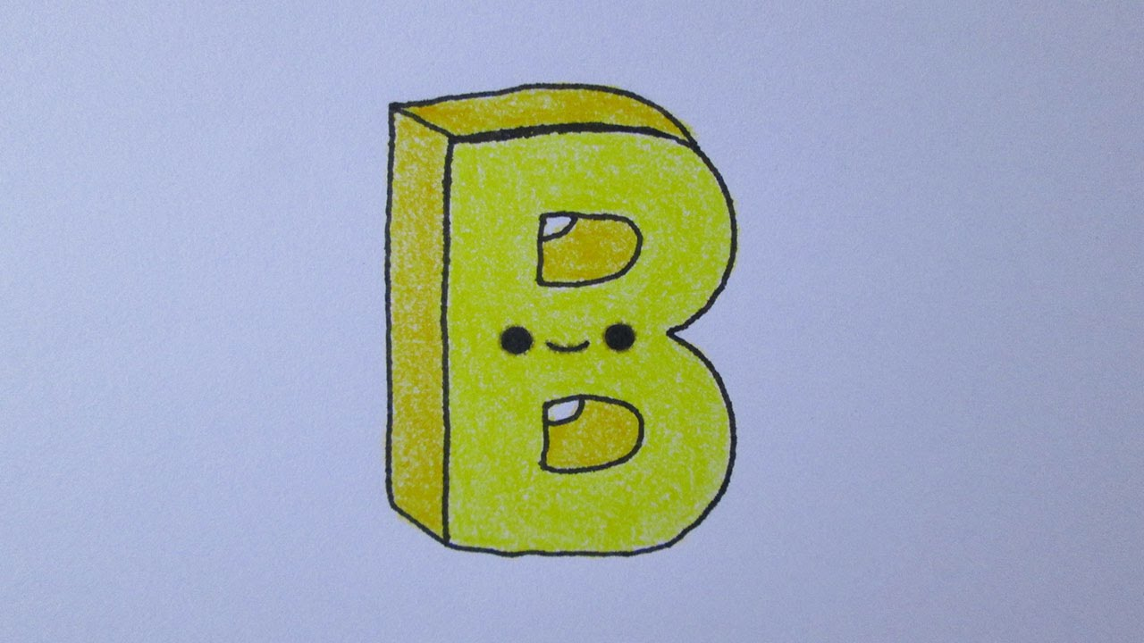 como desenhar a letra b youtube