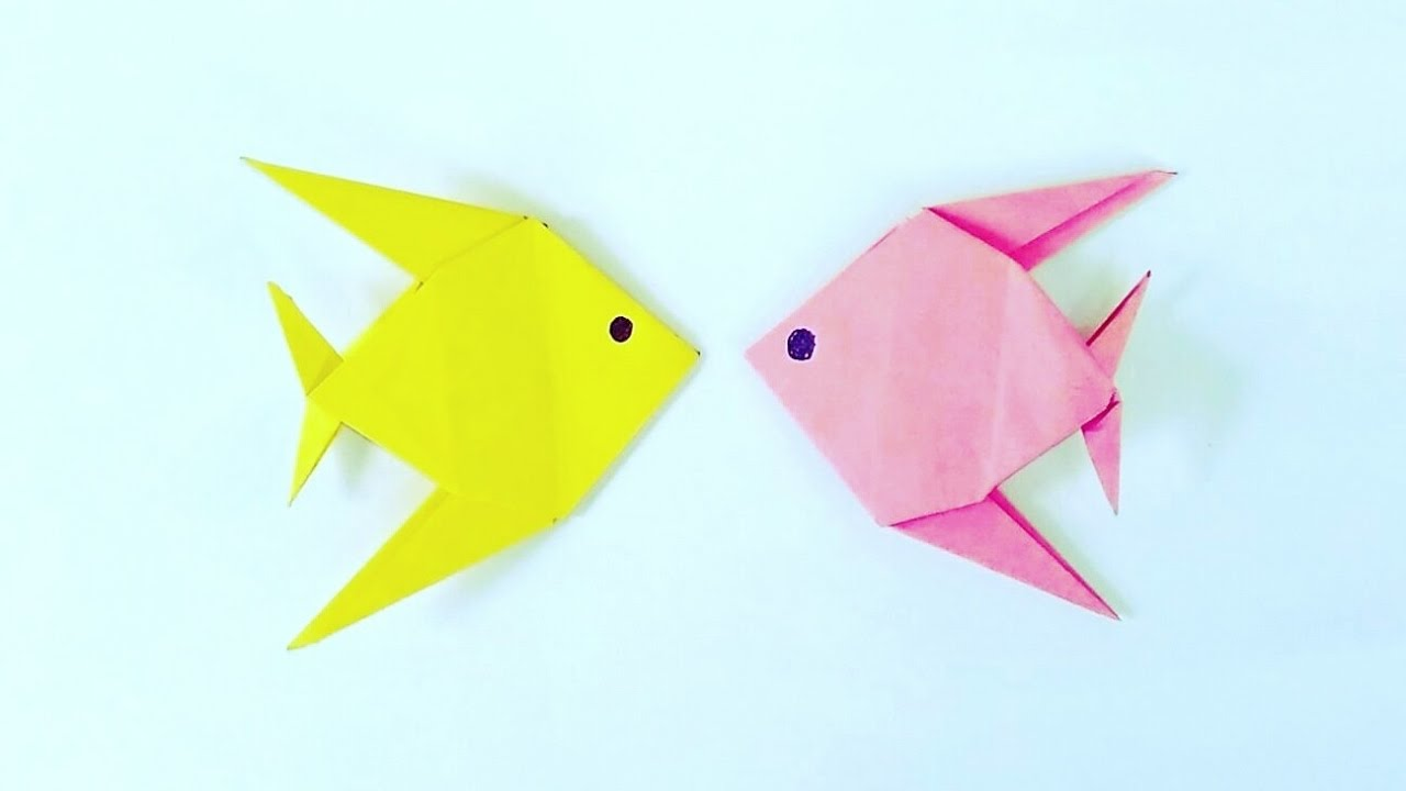 Origami Paper Fish Instructions Tutorial Handmade Koi Diagram Easy Steps You