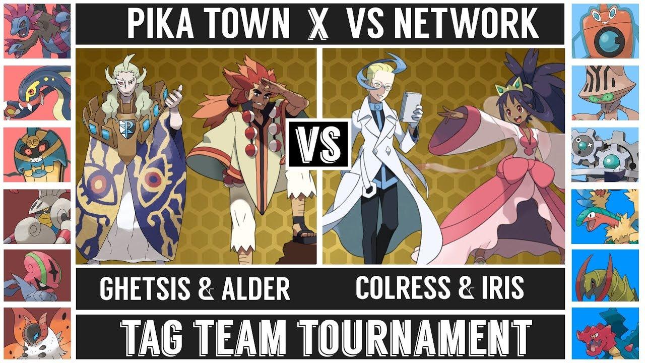 Ghetsis Alder Vs Colress Iris Tag Team Tournament Pokémon Sun Moon Youtube