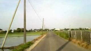 【車載】茨城県取手市藤代、用水路脇東行走行動画