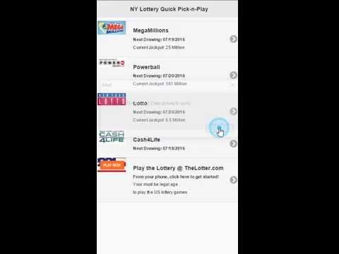 NY Lottery Quick Pick -n- Play
