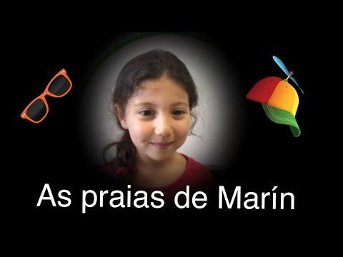 Alumnos de primeiro de primaria recitán ás praias de Marín