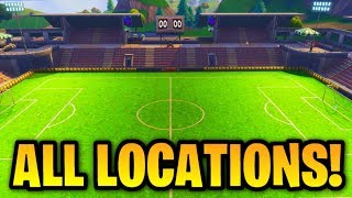 ''Score a goal on different pitches'' ALL 3 LOCATIONS! [Fortnite: Week 7 Challenges]