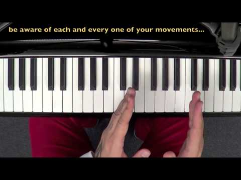 Piano technique - C major scale - parallel and contrary motion