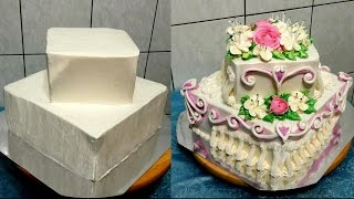 УКРАШЕНИЕ ТОРТОВ, СВАДЕБНЫЙ ДВУХ-ЯРУСНЫЙ ТОРТ, от SWEET BEAUTY сладкая красота,  cake decoration
