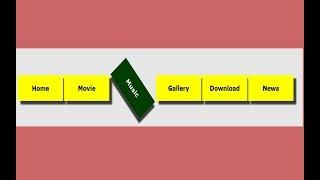 3D transform navigtion bar and menus