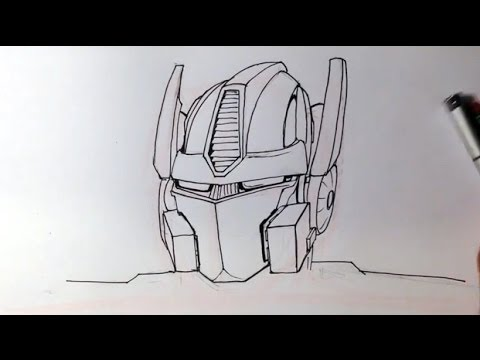How To Draw Optimus Prime From Transformers Easy Drawings Youtube