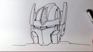 How to Draw Optimus Prime from Transformers - Easy Drawings