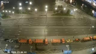 Техника возвращается с репетиции парада 17/06/2020