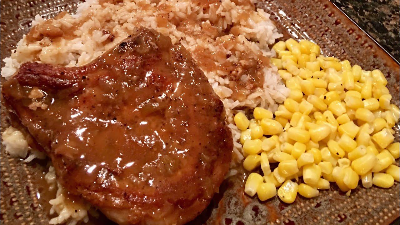 smothered pork chops with onion gravy cajun ninja Smothered Pork Chops & Onion Gravy by The Cajun Ninja
