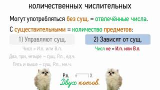 Синтаксические особенности количественных числительных (6 класс, видеоурок-презентация)
